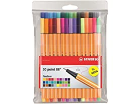 Point 88 Fineliner Pens 30 Color Wallet Set
