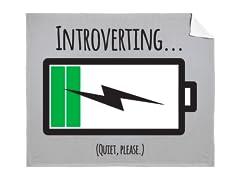 """Introverting..."" Mink Blanket"