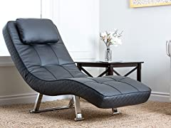 Morgan Black Euro Lounger Chair