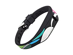 XO Your Sister Fitbit Flex Replacement Band w/ Chrome Watch Clasp - 100% Silicone
