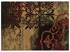 Greyson Scrolls Fleur De Lis Rug (Multiple Sizes)