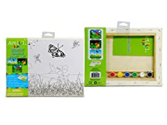 Garden Scene Canvas Paint Set