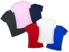 Ladies 3-Pack Short Sleeve Mesh Tee