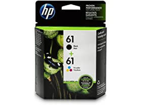 HP 61 Black & Tri-Color Ink Cartridges