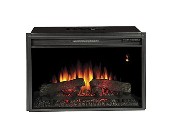 Media Mantel W Electric Fireplace Insert