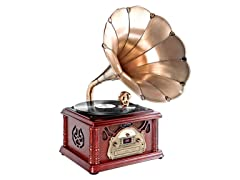Classical Trumpet Horn Turntable w/ AM/FM/CD/USB