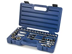 "27 PC 1/2"" Drive Indo Socket Set w/ Case"
