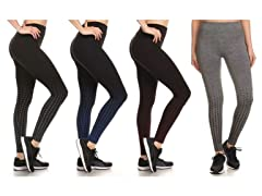 Women's Active Fleece Lined Leggings 4-Pack