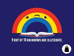 Illiterate Rainbow Tote