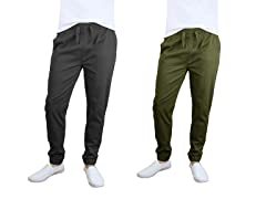 Men's Stretch Twill Joggers 2-Pack