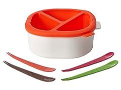 Lekue Fondue Pot Red/White