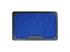 J&V TEXTILES Disinfectant Outdoor Mat,Blue