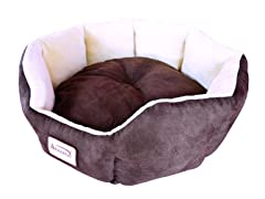 Pet Bed Mocha & Beige