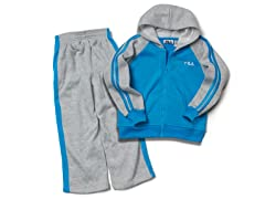 Gray/Blue Fleece Set