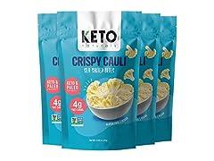 Keto Chips Low Carb Cauliflower Bites, 4 Pack