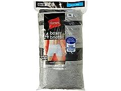 Hanes 4 Pack TAGLESS Boxer Briefs w/Flex Waist
