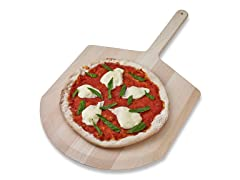 Basswood Pizza Peel with Curved End - 14""