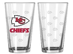 Chiefs Pint Glass 2-Pack