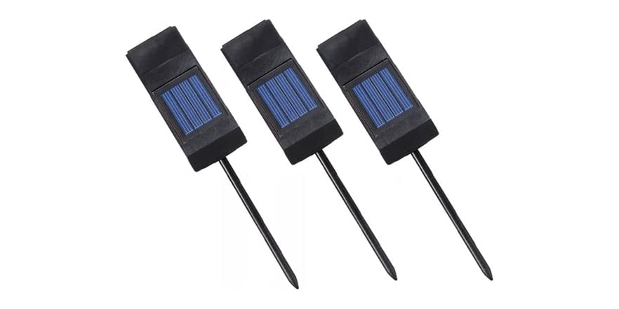 Design Craft Solar Plant Light 3 Pack Kit