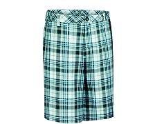 Madras Plaid Flat Shorts - Dark Gray