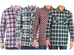 Men's Flannel Button Down Shirts 2 Pack