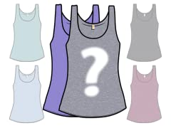 Random Blank Ladies Tri-Blend Tank 2-Pack