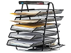 Halter Steel Mesh Desktop 5-Tier Shelf