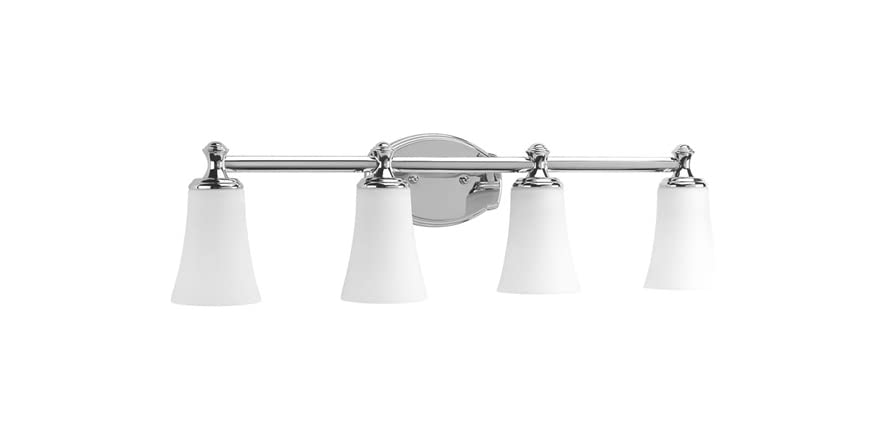 Chrome Bath Lighting Fixtures: 4-Light Bath Fixture, Polished Chrome