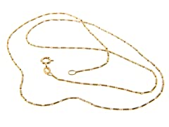 18kt Gold Plated 1 + 1 Tube Chain