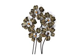 Gold Daisy Metal Decor