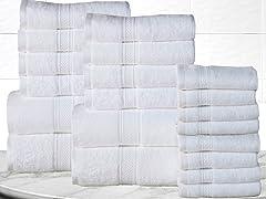 20-PC 100% Long Staple Cotton Towel Set