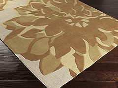 Budding Ivory & Gold Rug - 5 Sizes