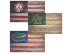 Fan Creations NCAA Distressed Flag A-M
