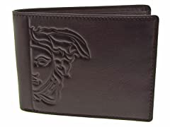 Versace Men's Dark Brown Billfold Wallet