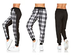 Women's Plaid Jogger Pants With Pockets