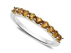 9 Stone Citrine Ring