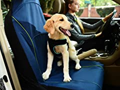 FurryGo Pet Single Car Seat Cover - Navy Blue