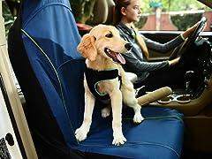FurryGo Pet Single Car Seat Cover - Navy Blue
