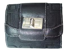 Vecelli Italy Tri-Fold Wallet, Black