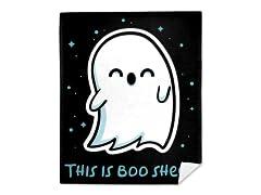 Boo Sheet Mink Fleece Blanket