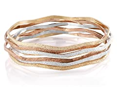 7 Pack Glitter Stackable Bangle