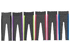 6Pk Side Color Sports Leggings