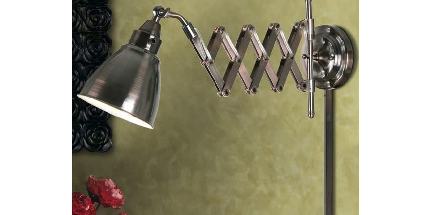 accordion swing arm lamp copper bronze finish woot. Black Bedroom Furniture Sets. Home Design Ideas