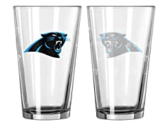 Panthers Pint Glass 2-Pack