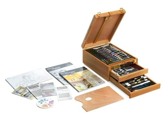 art 101 97 piece sketch box easel