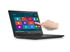 "Dell 15.6"" Quad-Core Touchscreen Laptop"