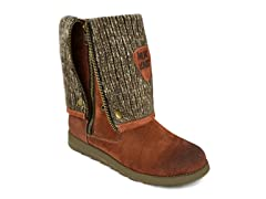 MUK LUKS ® Women's Demi Tall Zip Up Boot, Brown