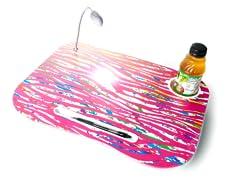 Rainbow Zebra Laptop Cushion with Light