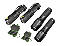 Army Gear Tactical Flashlights (4 Pack)