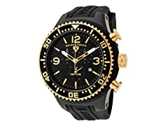 Men's Neptune Chronograph, Black / Gold